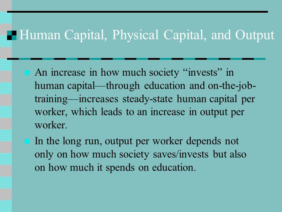 Human Capital, Physical Capital, and Output