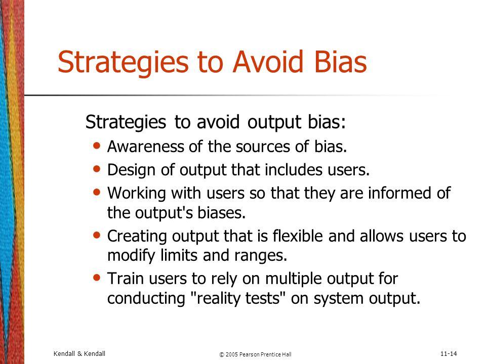 Strategies to Avoid Bias