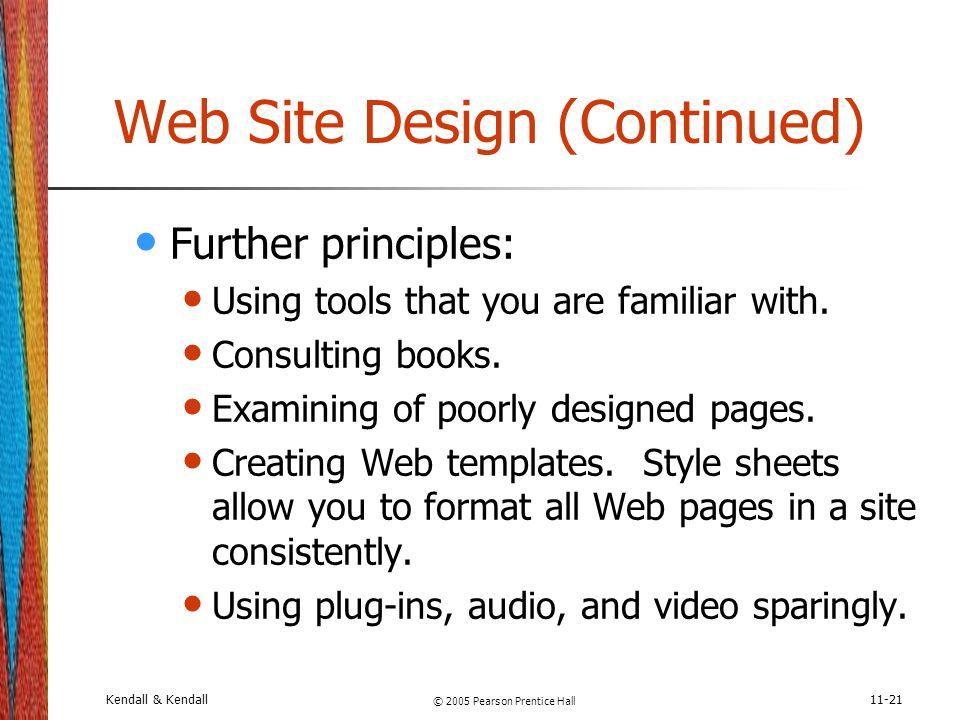 Web Site Design (Continued)