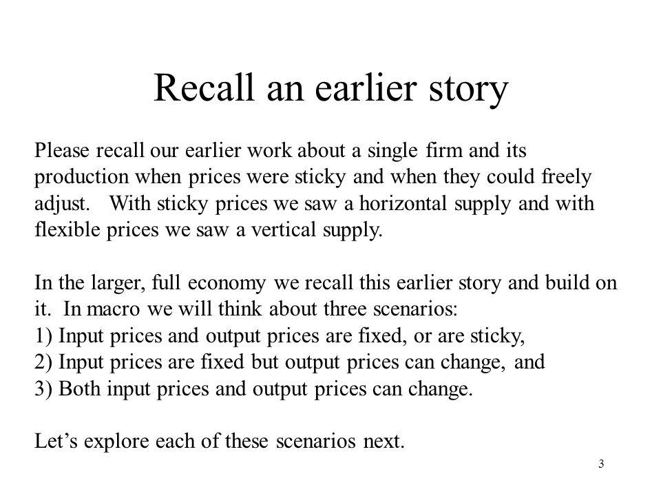 Recall an earlier story