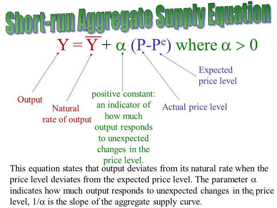 Short-run Aggregate Supply Equation