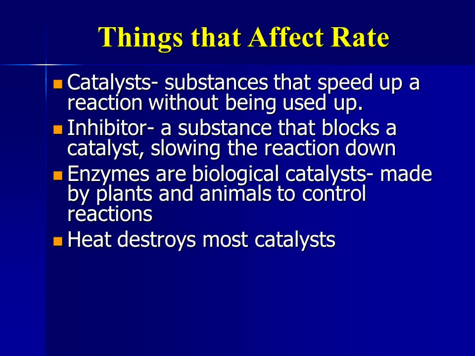 Things that Affect Rate