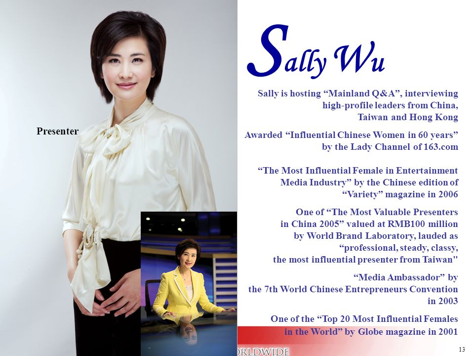 Sally Wu Presenter Presenter