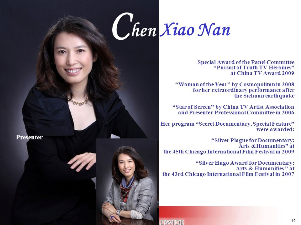 Chen Xiao Nan Presenter Presenter Special Award of the Panel Committee