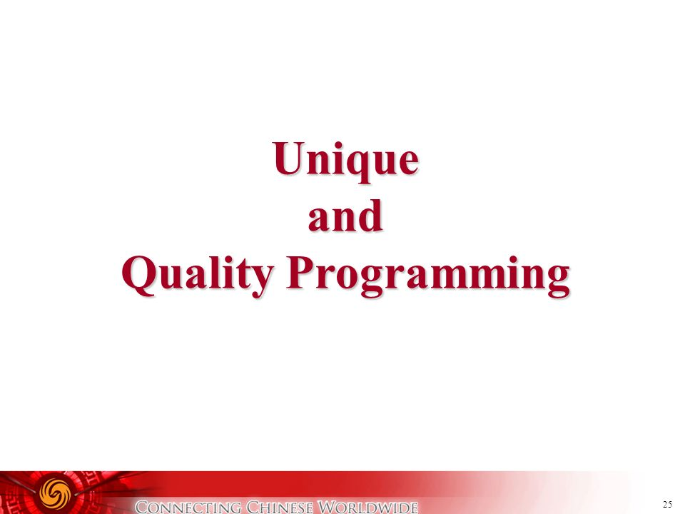 Unique and Quality Programming