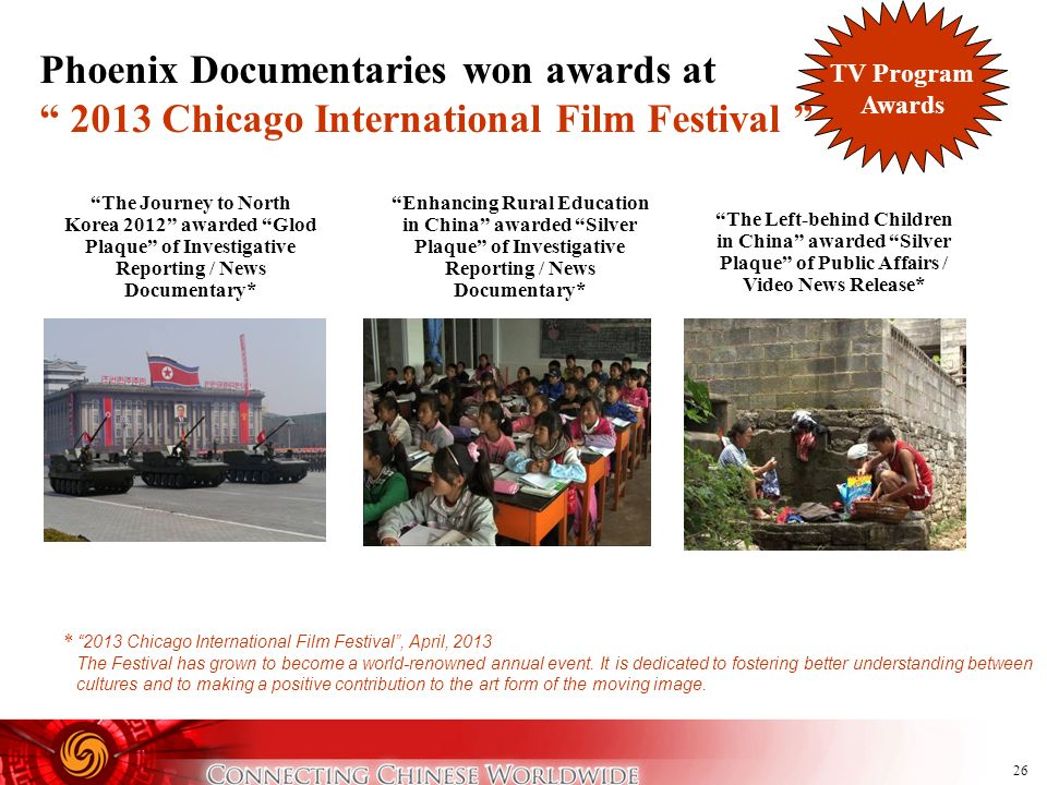 Phoenix Documentaries won awards at