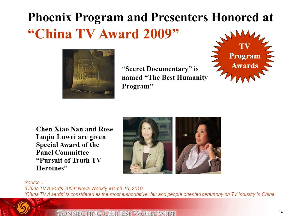 China TV Award 2009 Phoenix Program and Presenters Honored at