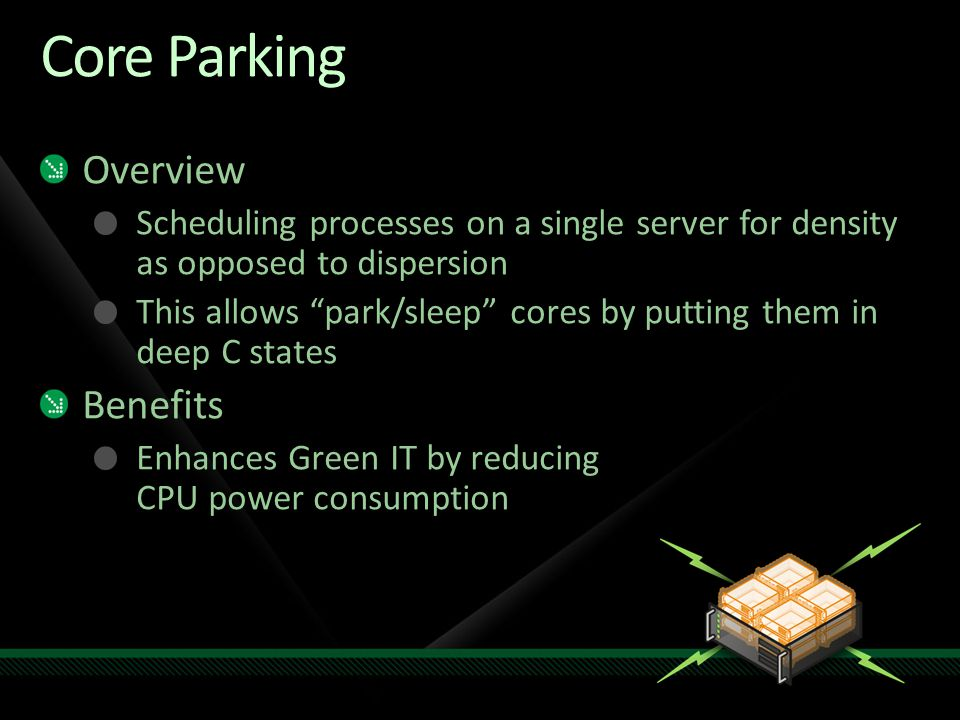 Core Parking Overview Benefits