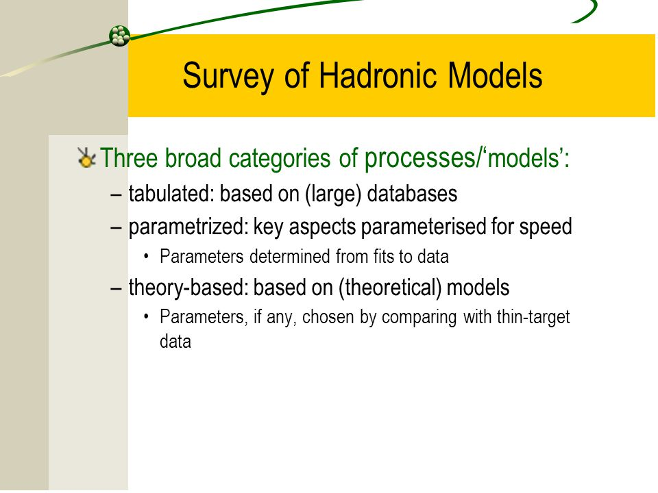 Survey of Hadronic Models