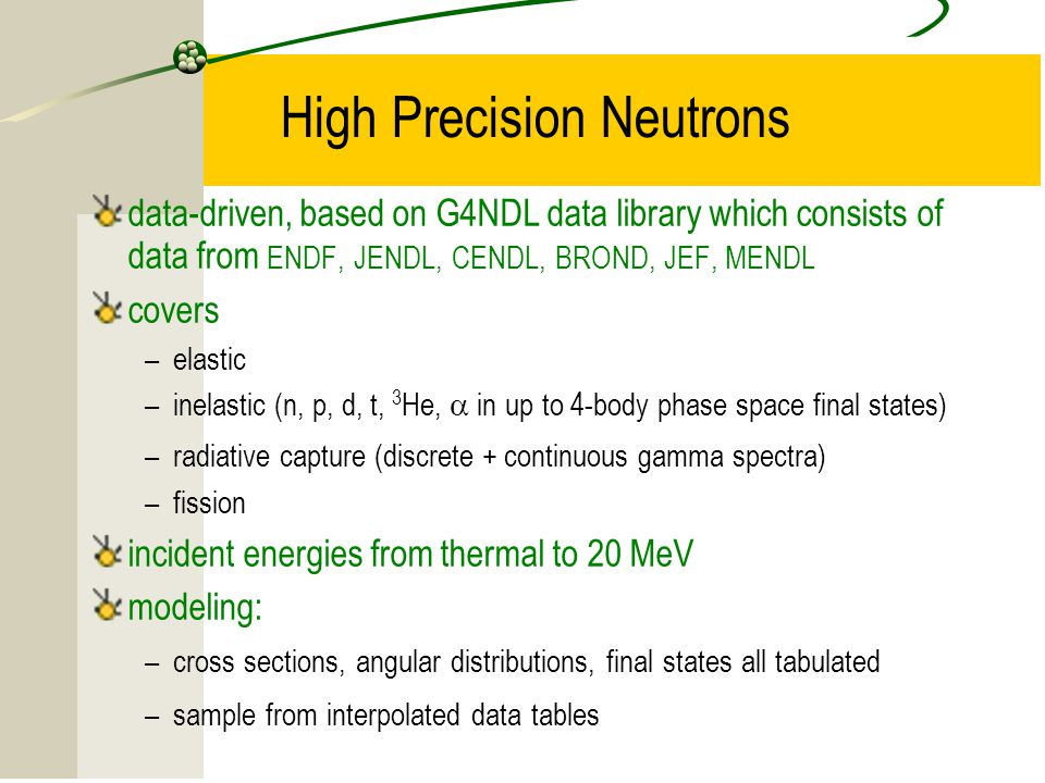 High Precision Neutrons