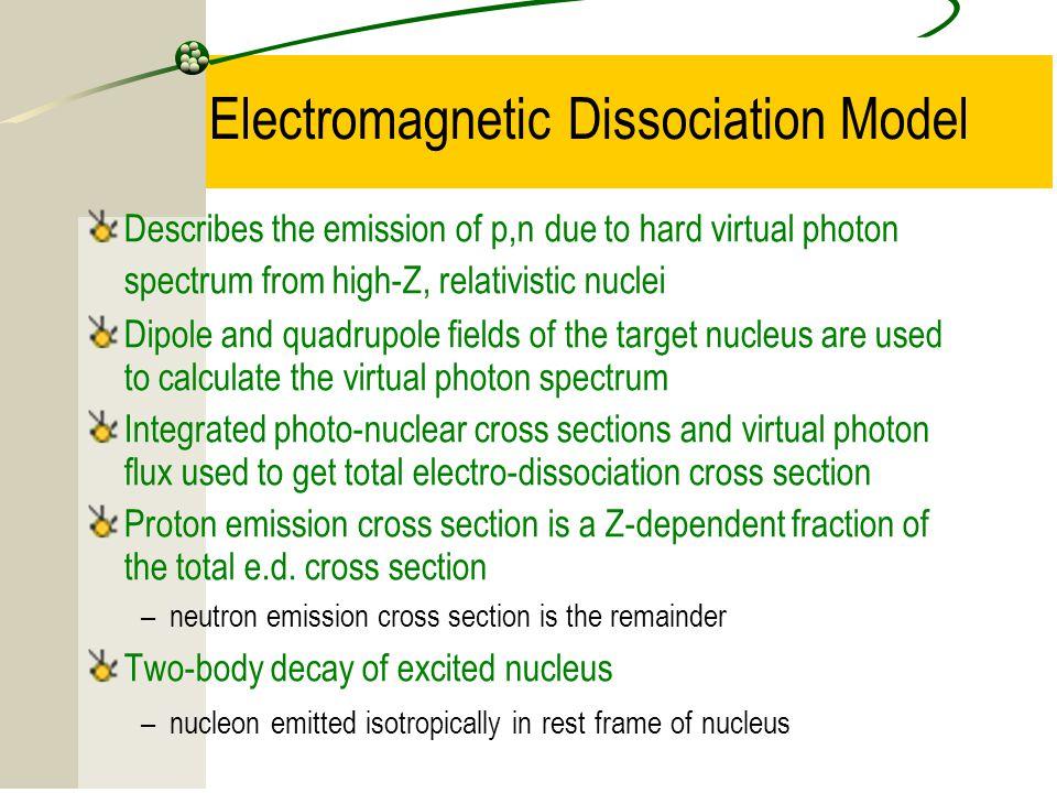Electromagnetic Dissociation Model