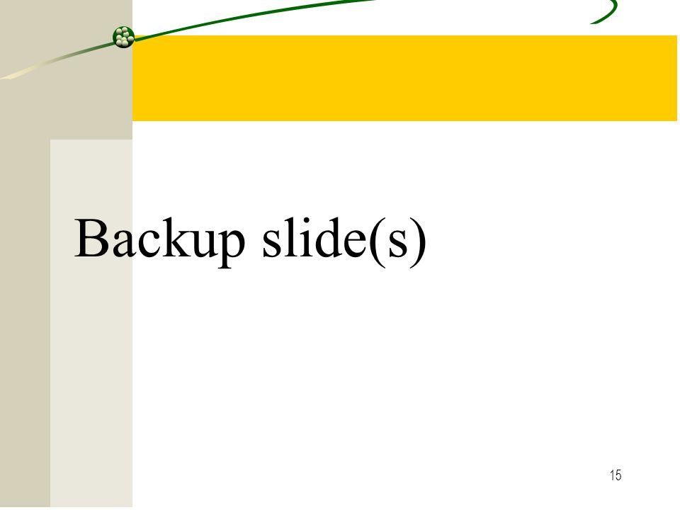 Backup slide(s)