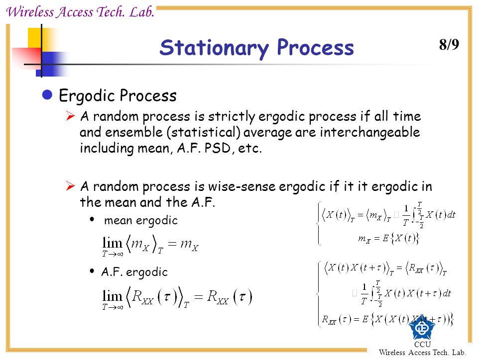Stationary Process 8/9 Ergodic Process