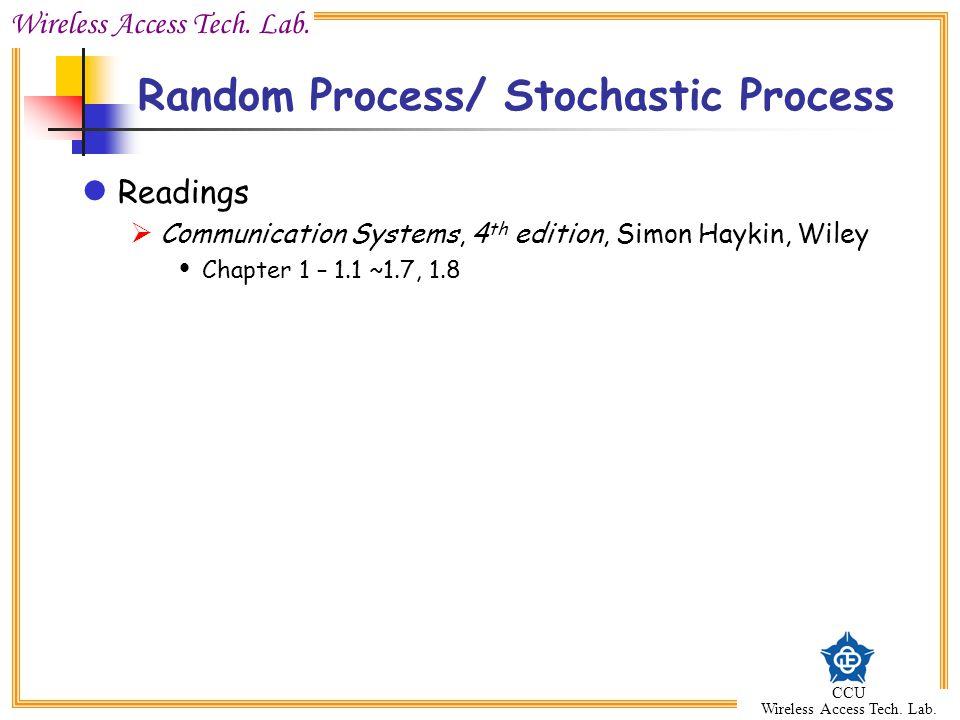 Random Process/ Stochastic Process
