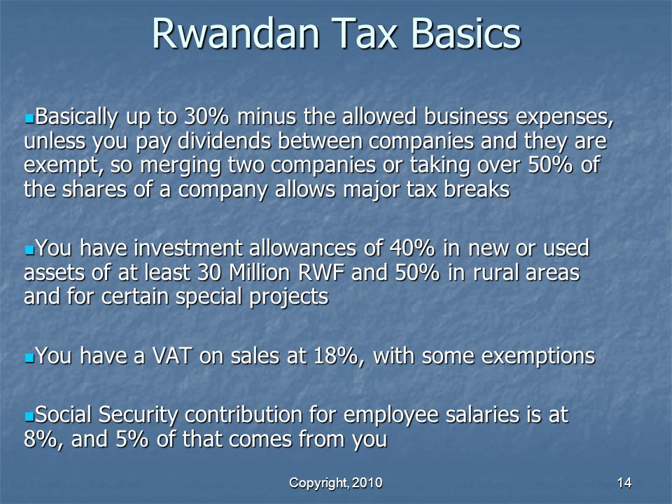 Rwandan Tax Basics