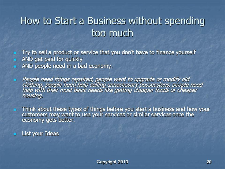 How to Start a Business without spending too much