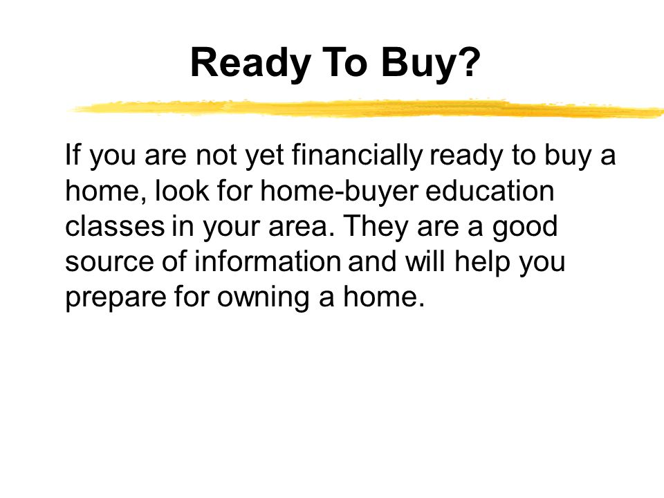 Ready To Buy
