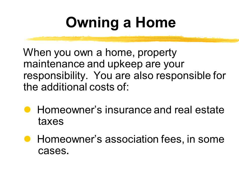 Owning a Home