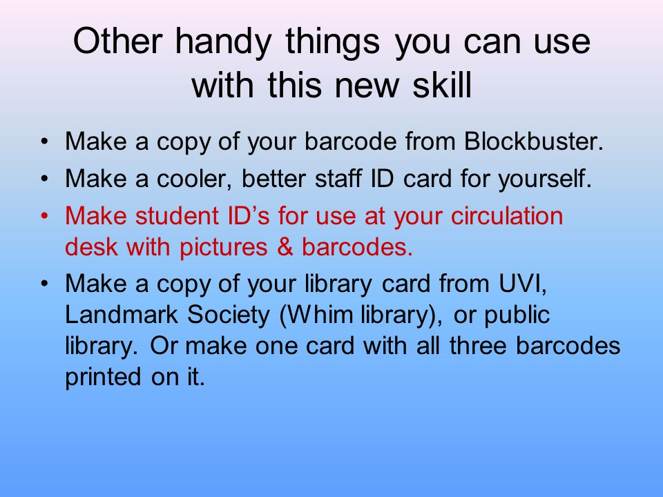 Other handy things you can use with this new skill