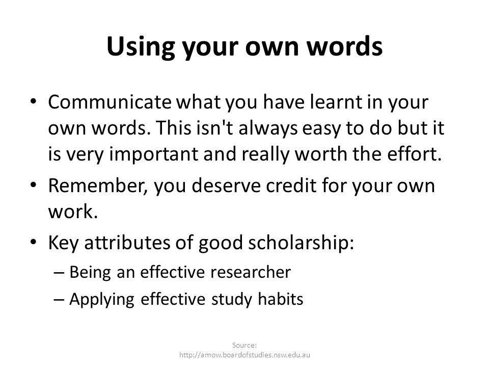 Source: http://amow.boardofstudies.nsw.edu.au