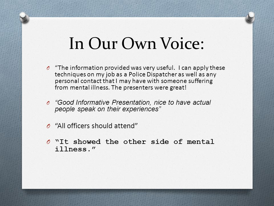 In Our Own Voice: All officers should attend