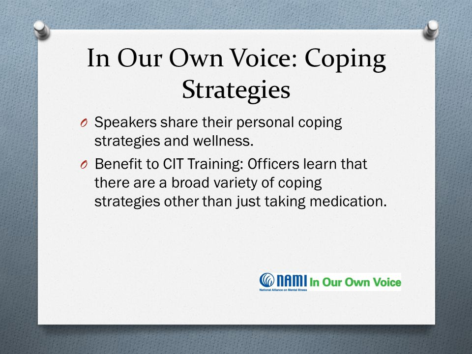In Our Own Voice: Coping Strategies
