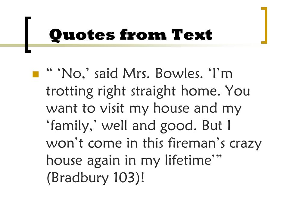 Quotes from Text