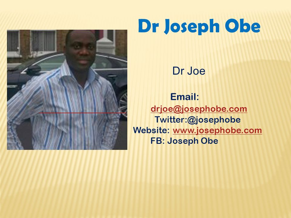 Website: www.josephobe.com
