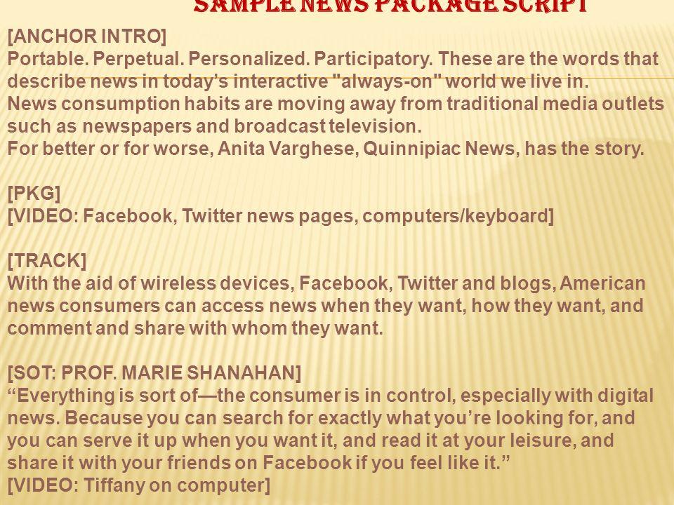 Sample news package script