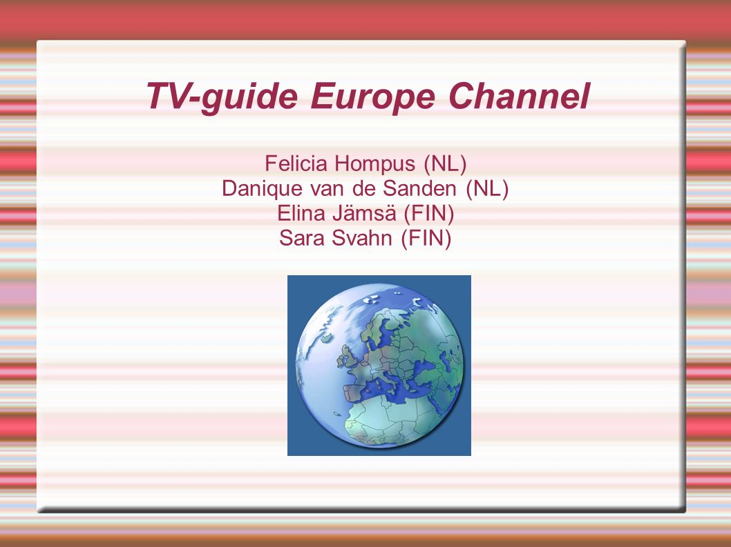 TV-guide Europe Channel
