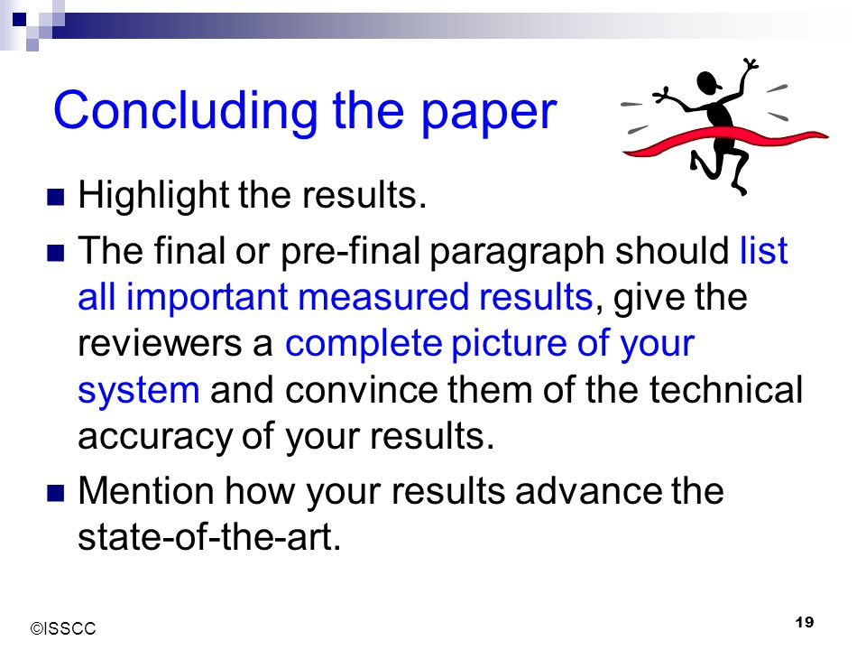 Concluding the paper Highlight the results.