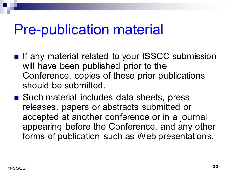 Pre-publication material