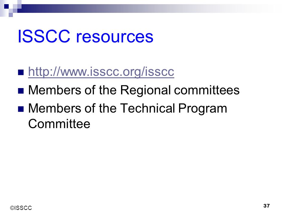 ISSCC resources http://www.isscc.org/isscc