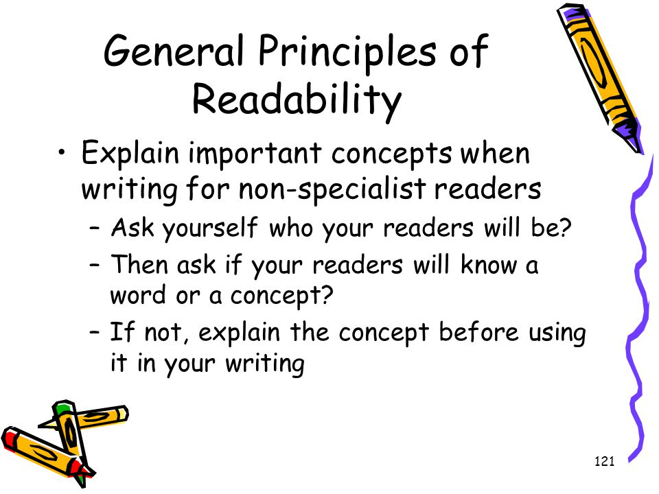 General Principles of Readability