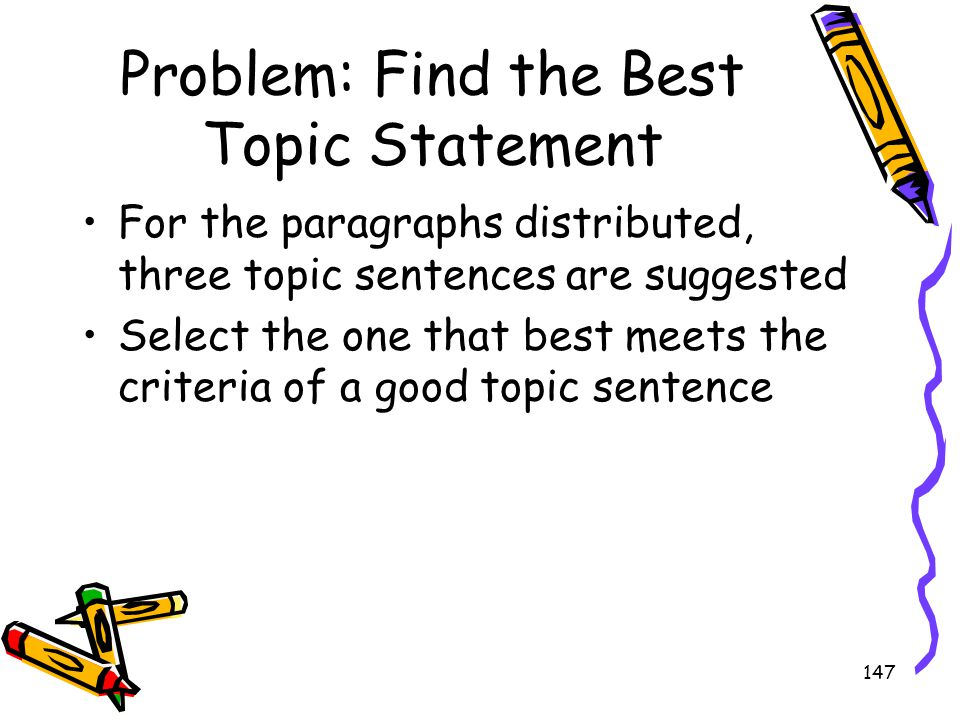 Problem: Find the Best Topic Statement