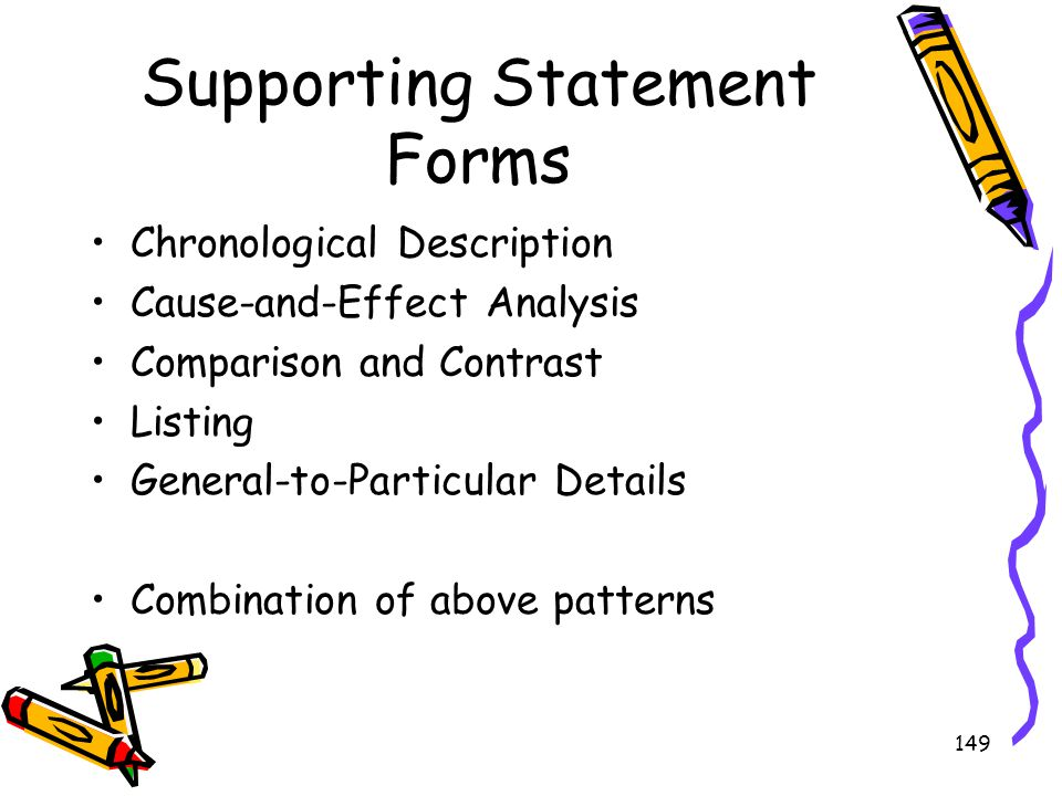 Supporting Statement Forms