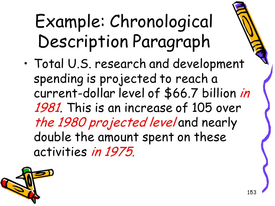 Example: Chronological Description Paragraph