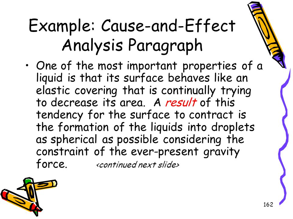 Example: Cause-and-Effect Analysis Paragraph