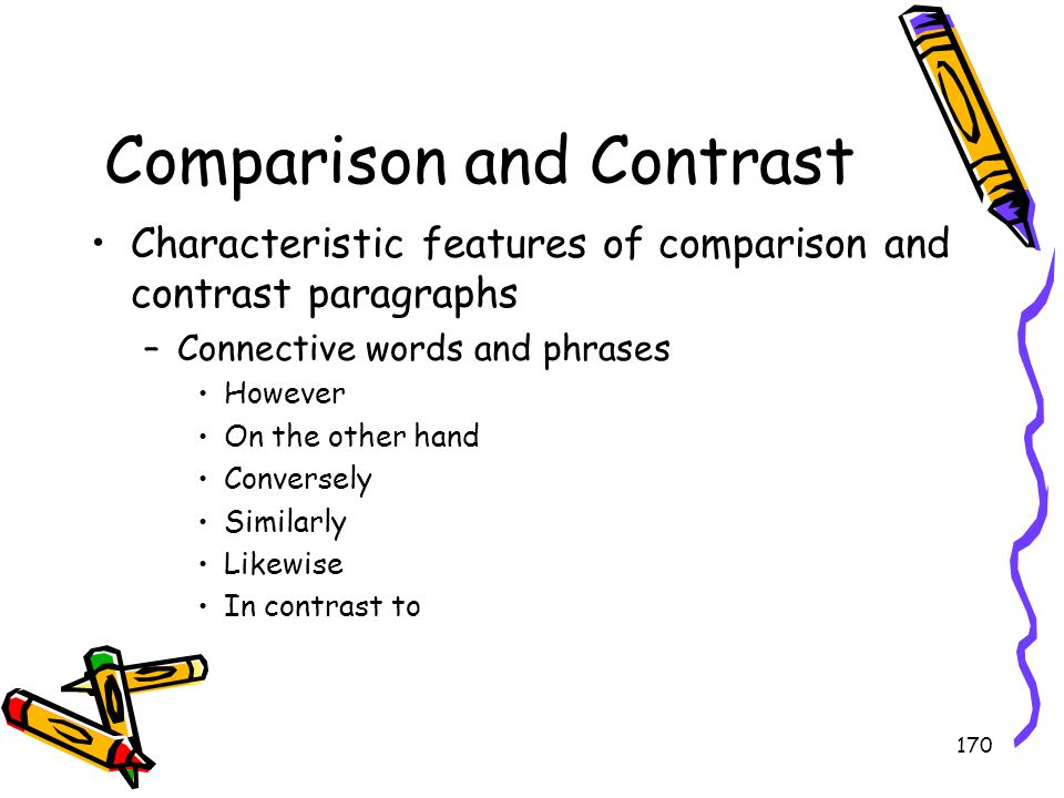 Comparison and Contrast
