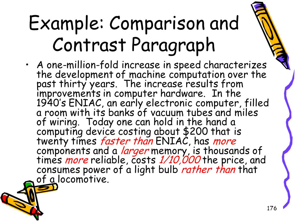 Example: Comparison and Contrast Paragraph