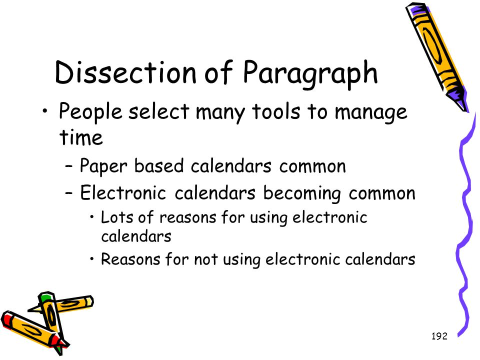 Dissection of Paragraph