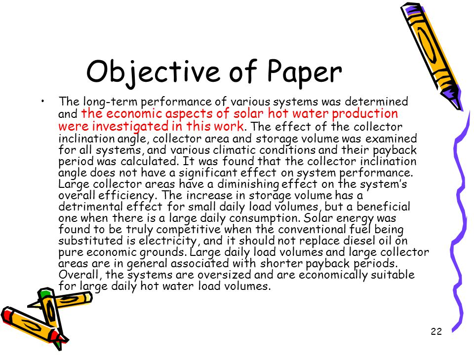 Objective of Paper