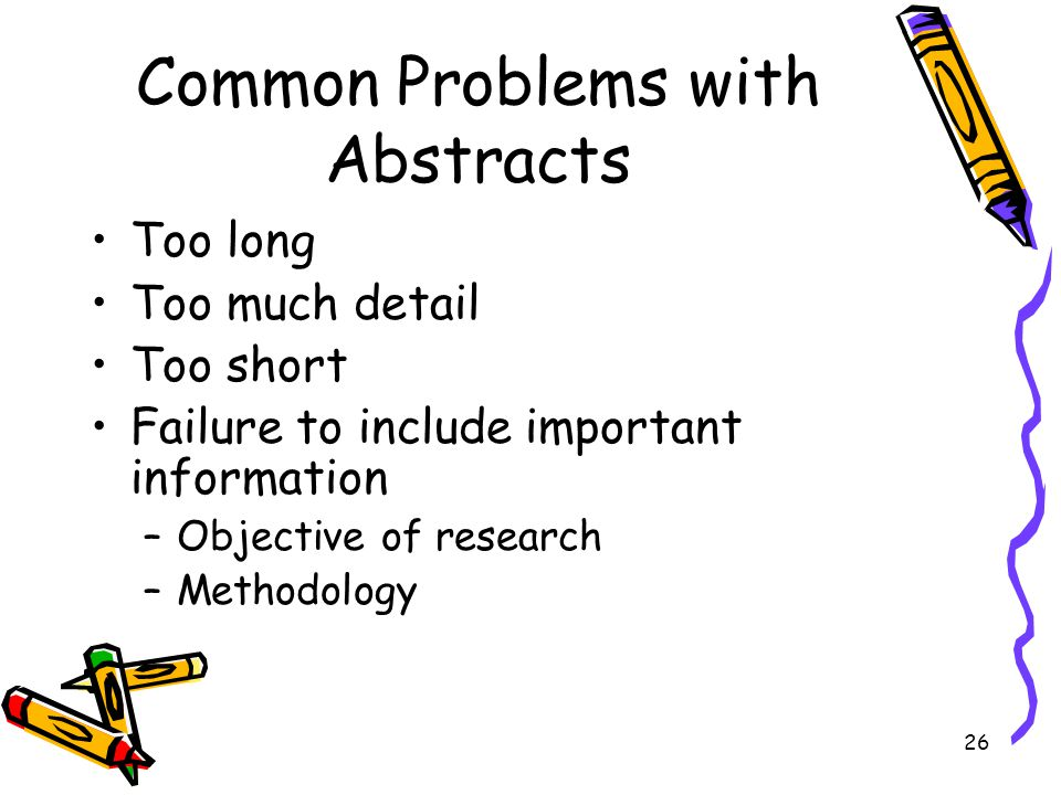 Common Problems with Abstracts