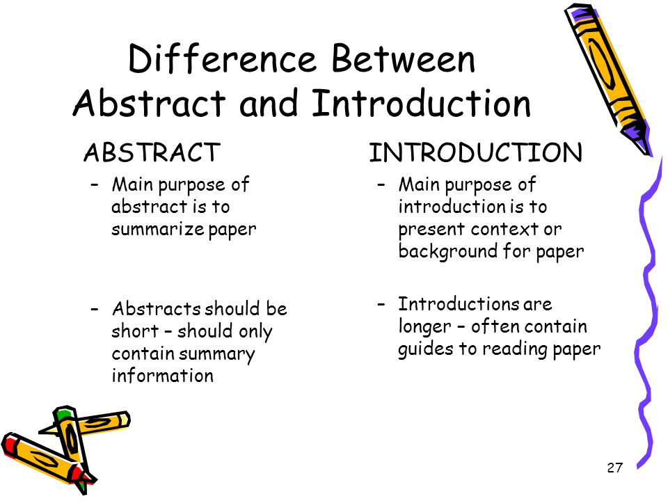 Difference Between Abstract and Introduction