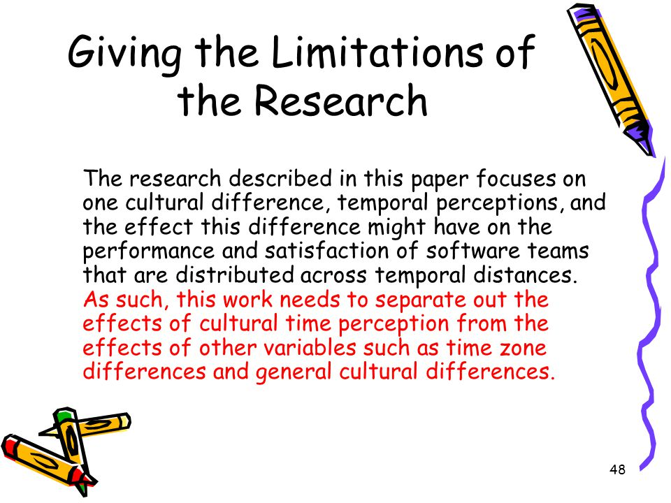 Giving the Limitations of the Research