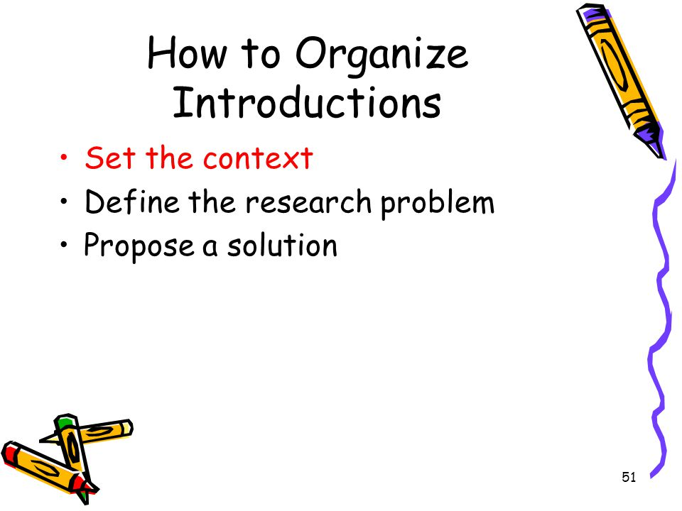 How to Organize Introductions