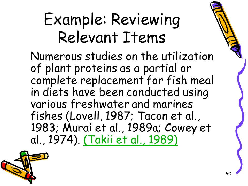 Example: Reviewing Relevant Items