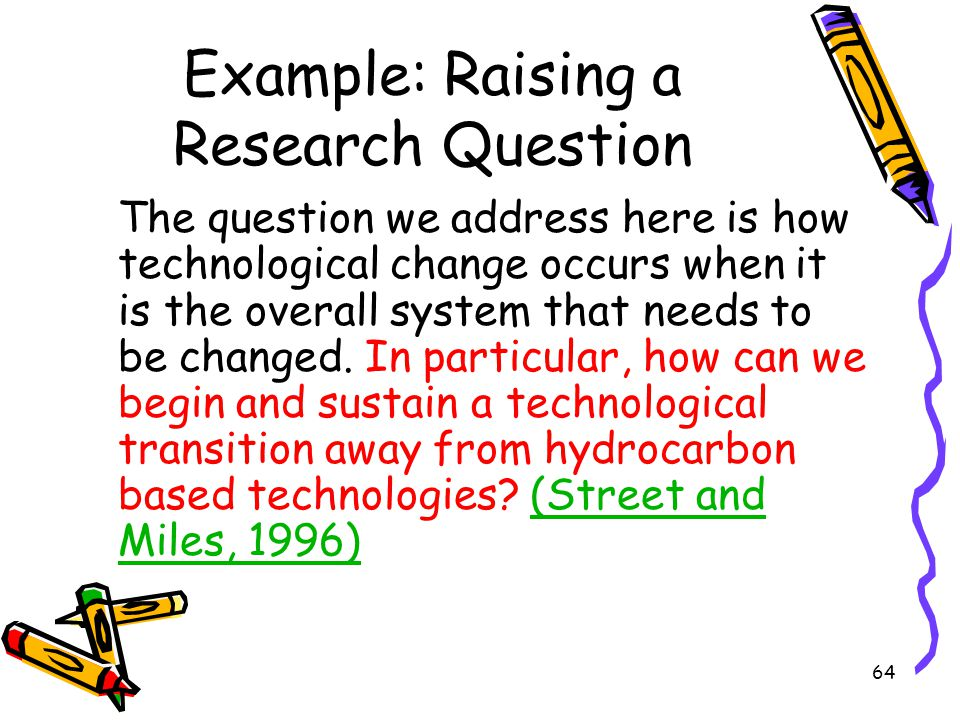 Example: Raising a Research Question