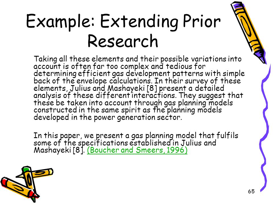 Example: Extending Prior Research
