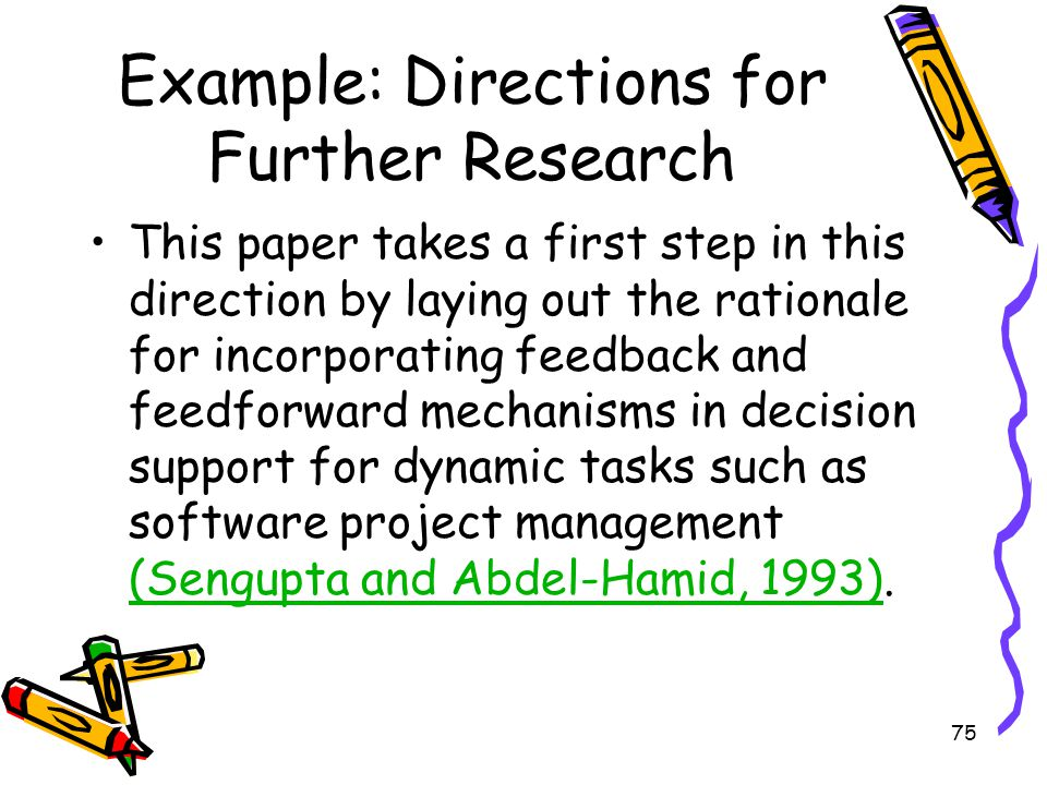 Example: Directions for Further Research